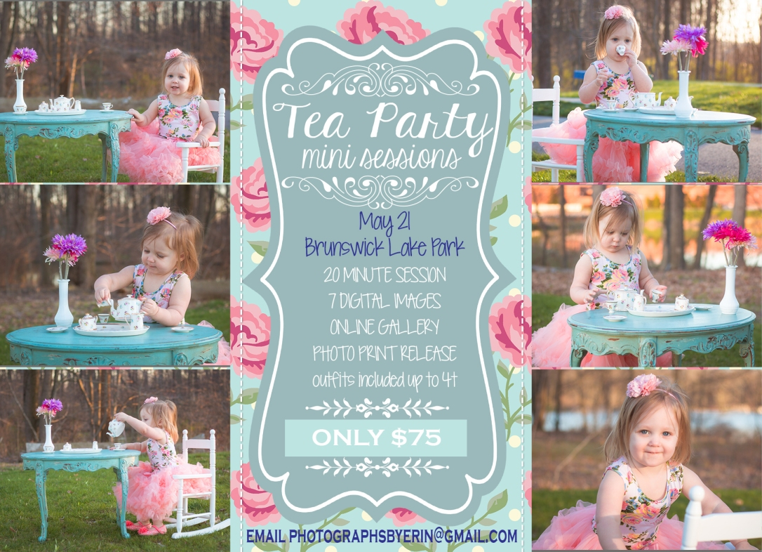 Tea Party Mini Sessions! – Photographs By Erin